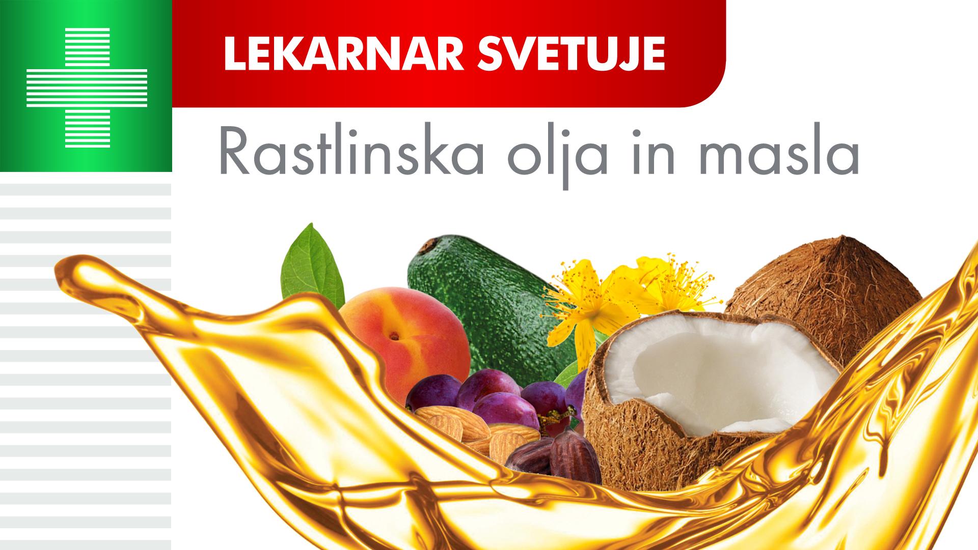 Rastlinska olja in masla